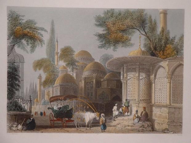 Turcia W.H. Bartlett fantana din Istanbul