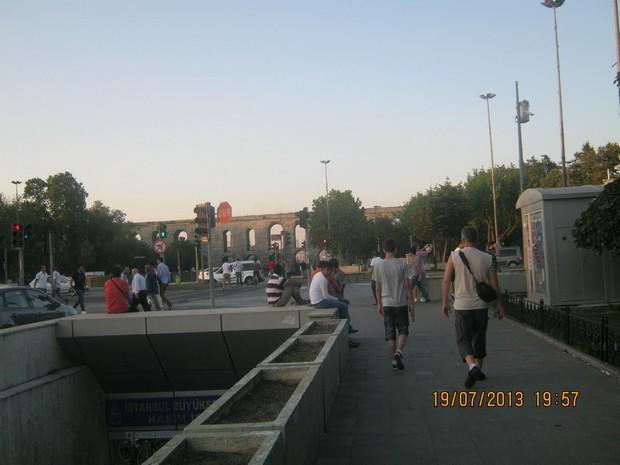 Turcia Istanbul spre Apeductul lui Valens