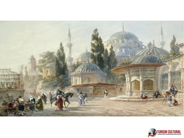 Turism Cultural - Istanbul Eugene Napoleon Flandin Sehzade Mosque