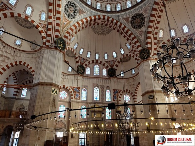 Turism Cultural - Turcia Istanbul Moscheea Sehzade interior