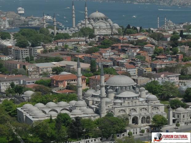 Turism Cultural - Turcia Istanbul Moscheea Sehzade vedere aeriana