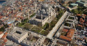 Turism Cultural - Turcia Istanbul Moscheea Suleymaniye vedere aeriana