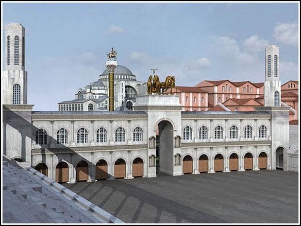 Turism Cultural - Turcia Istanbul hipodrom cvadriga reconstituire