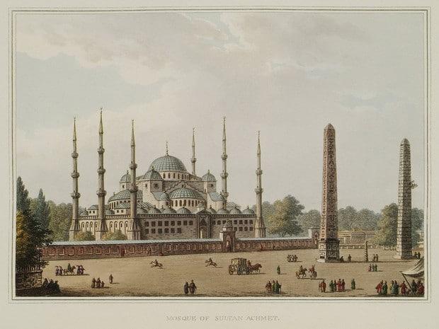 Turism Cultural - Turcia Istanbul Luigi Mayer gravura 1804