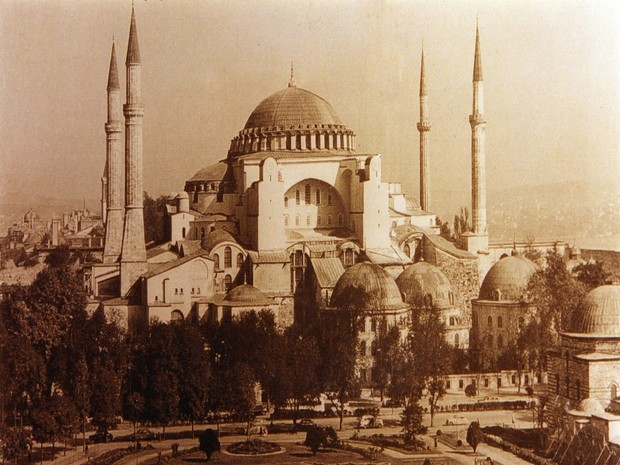 Turism Cultural - Istanbul Sfanta Sofia fotografie arhiva