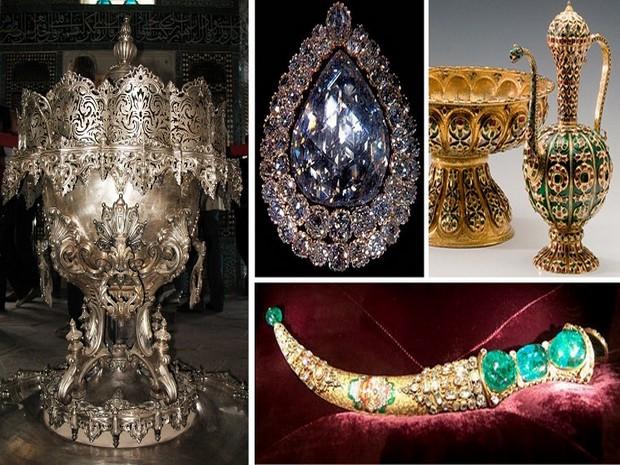Turism Cultural - Turcia Istanbul Palatul Topkapi bijuterii trezorerie