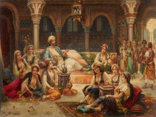 Turism Cultural - JG Delincourt - scena din harem