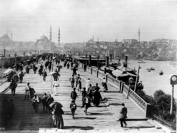 Turism Cultural - Istanbul Podul Galata anul 1889