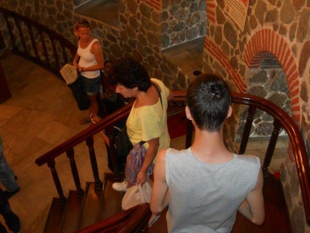 Turism Cultural - Istanbul Turnul Galata scara interioara