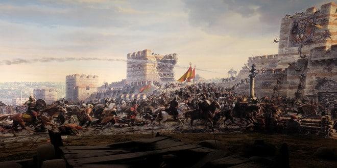 Turism Cultural - Istanbul Muzeul Panorama 1453 intrarea turcilor in oras