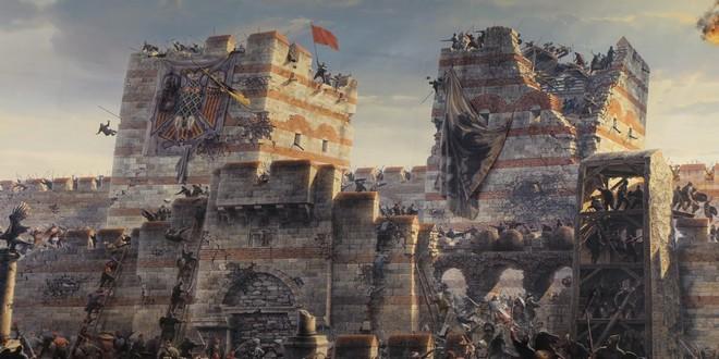 Turism Cultural - Istanbul Muzeul Panorama 1453 ziduri Constantinopole