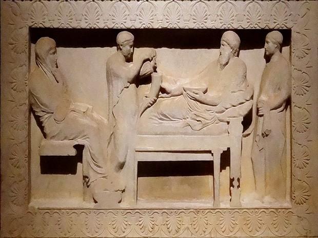 Turism Cultural - Istanbul sarcofag satrap scena banchet