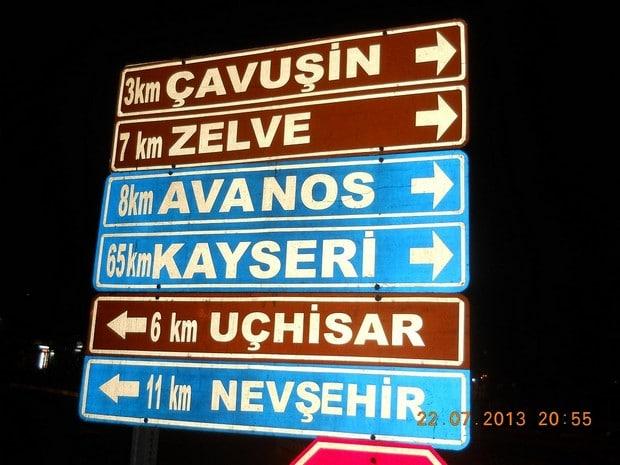 Turism Cultural - Cappadocia Goreme indicatoare