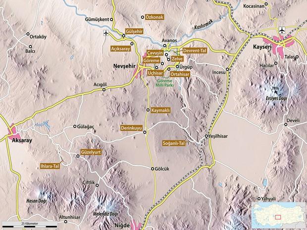 Turism Cultural - Cappadocia harta obiective turistice